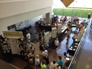 The Kansas City Irish Fest genealogy area.