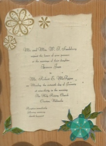 Bob &  Jean Wedding Invitation
