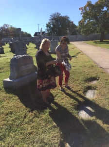 Mary and Bridget find the grave of the grandaunt Mary Finnegan Rogerson.